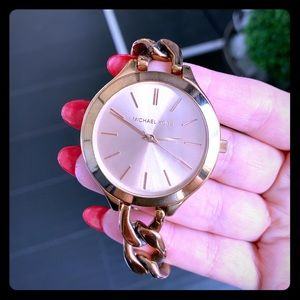 Michael kors Slim Chain Rose gold colored Watch